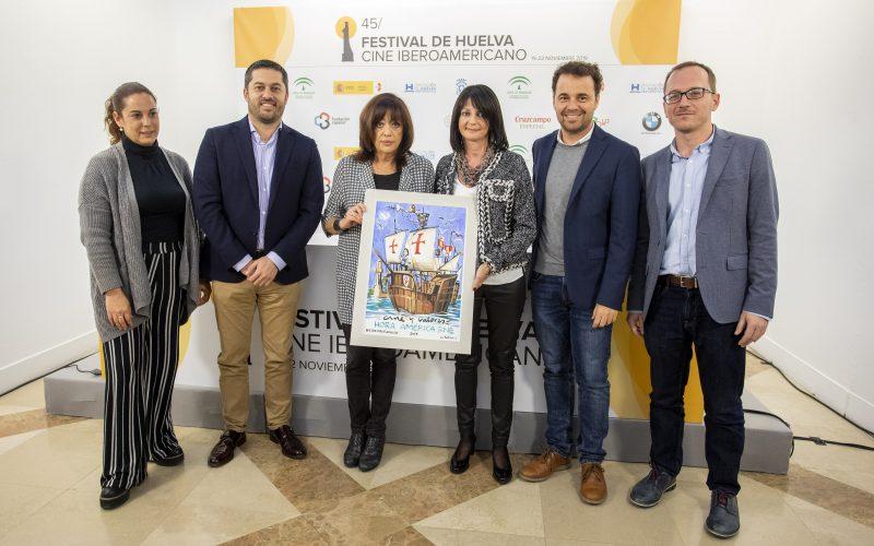 El diario 'Huelva Información' entrega en el Festival su premio 'Cine y valores' al programa Hora América